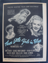 Three Little Girls in Blue (1946) - June Haver | Vintage Trade Ad